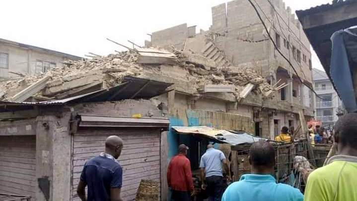 ONE KILLED, FOUR TRAPPED  AS BUILDING  COLLAPSES IN ABIA STATE